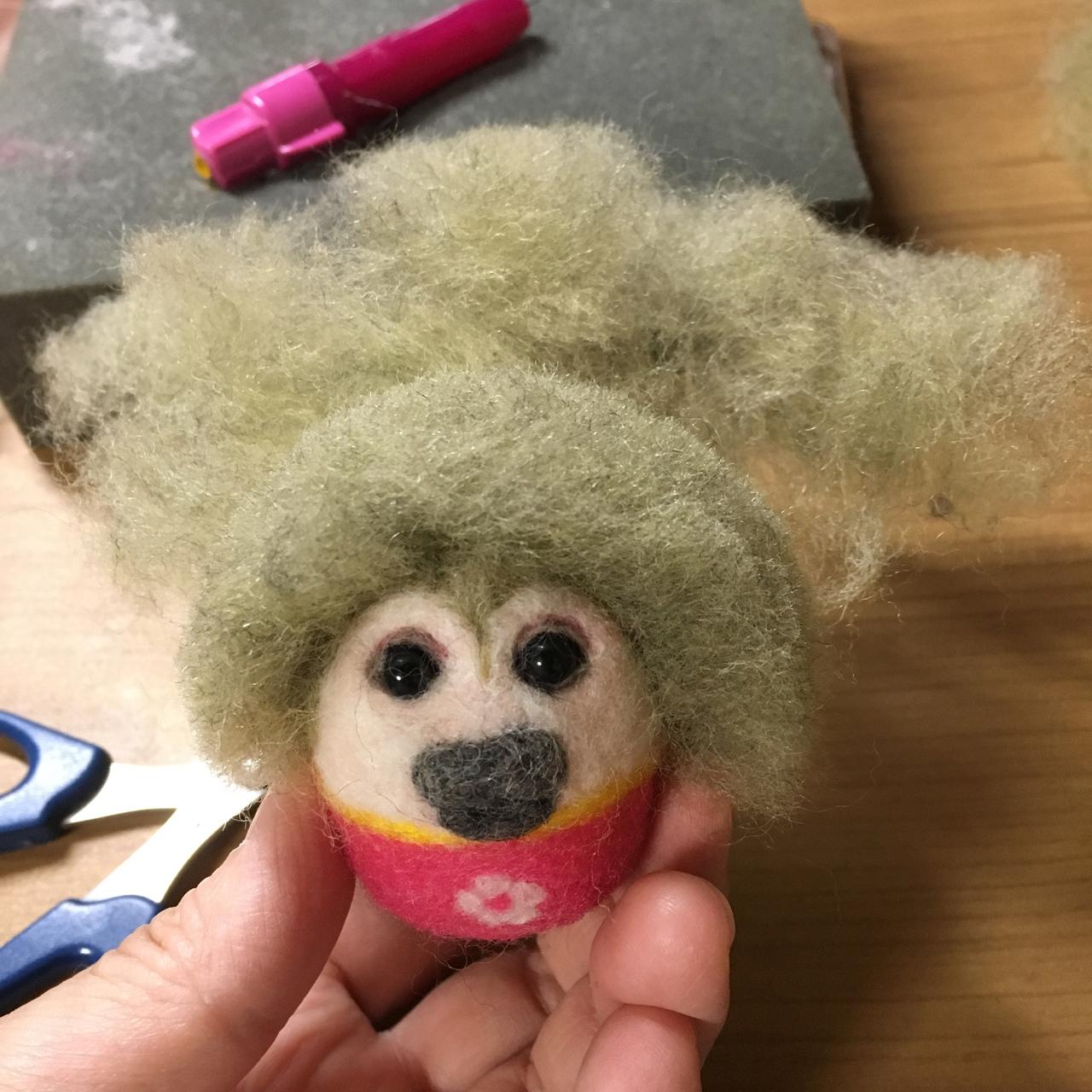 リスザル 羊毛フェルト